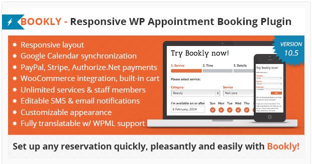 bookly Best Premium WordPress Appointment Booking Plugins wpshopmart