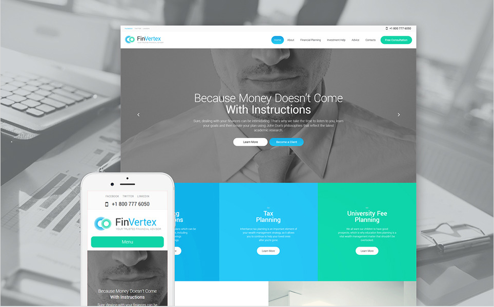 fin Bootstrap WordPress Themes