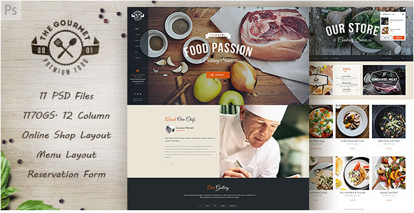 gourmet Best Food Restaurant PSD Templates wpshopmart