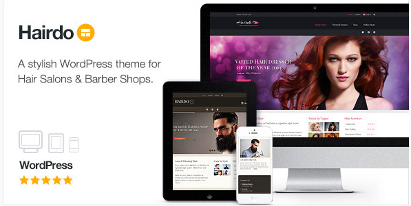 hairdo Best WordPress Spa and Hair Saloon Themes