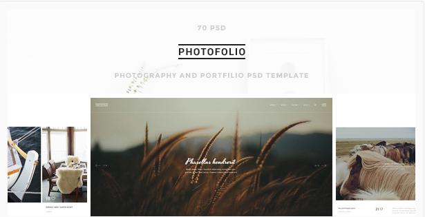 photo folio Best Photography PSD Website Templates wpshopmart