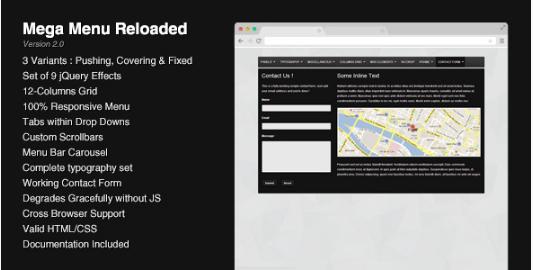 reloaded best Premium Mega Menu JavaScript Plugins wpshopmart