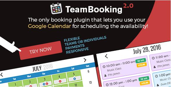 Team Booking: Best Premium WordPress Event Calendar Plugins