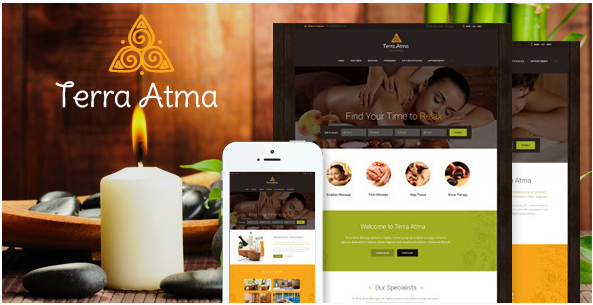terra atma Best WordPress Spa and Hair Saloon Themes