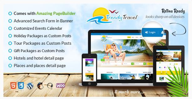 trendy best Travel WordPress Themes wpshopmart