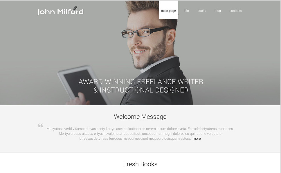 writer Best WordPress Personal Blog Themes