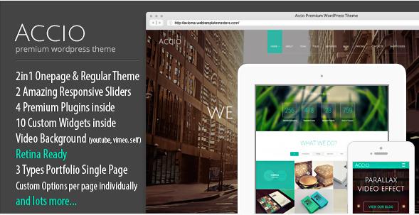Accio - Agency One Page Parallax Responsive WordPress Theme