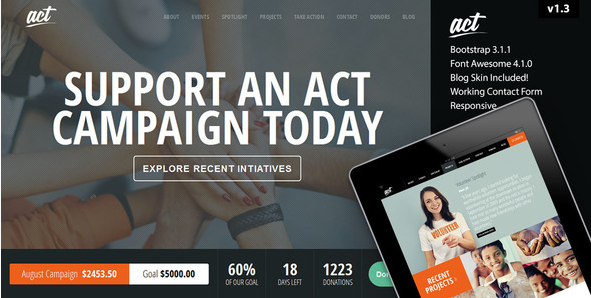 Act - Multipurpose Nonprofit Bootstrap Template
