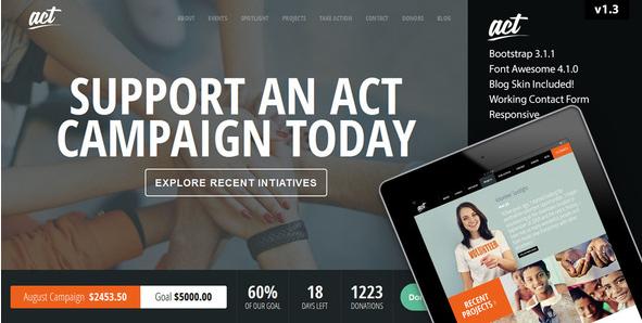 Act - Multipurpose Nonprofit Bootstrap Template