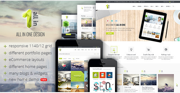 All in 1 - PSD Template. -Multi-Purpose Business