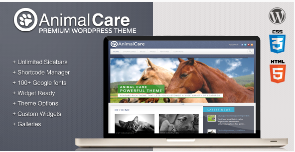 Animal Care - Premium WordPress Theme