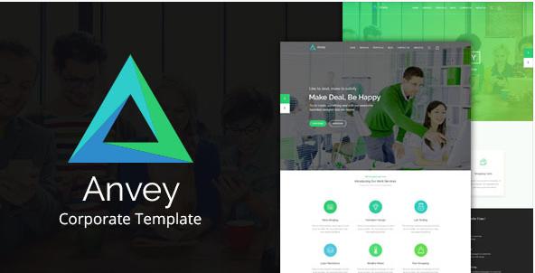 Anvey - Corporate Template