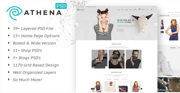 Athena - Fashion eCommerce PSD Template