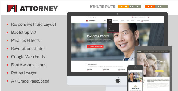 Attorney - Lawyer & Attorney HTML5 Template