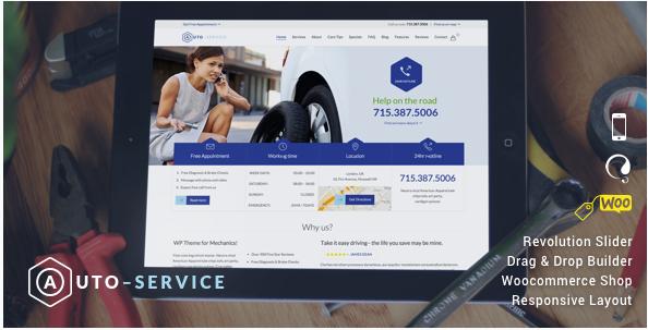 Auto Repair & Car Mechanic - Theme for Mechanic Workshops, Auto Repair and Cars