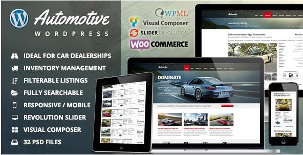 Automotive Car Dealership Business WordPress Theme Best Car WordPress Themes wpshopmart
