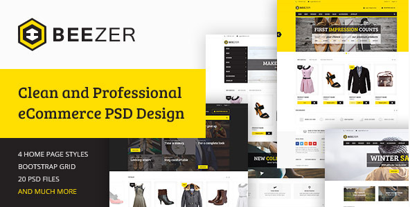 BEEZER - eCommerce PSD Template