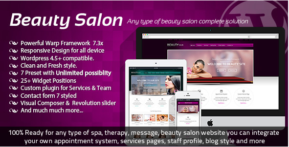 Beauty Salon Responsive WordPress Template