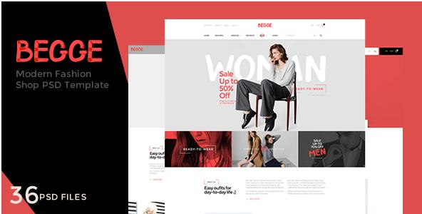 Begge - Modern Fashion Shop PSD Template