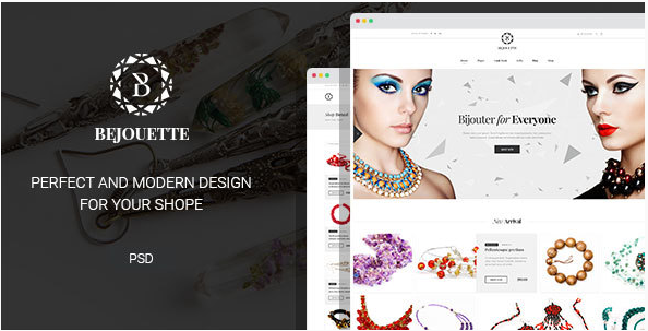 10+ Best Jewellery PSD Templates 2016