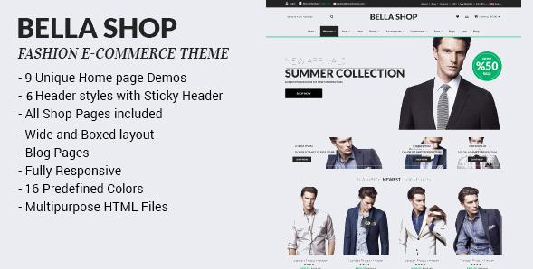 Bella Shop - Commerce Shop Drupal Theme