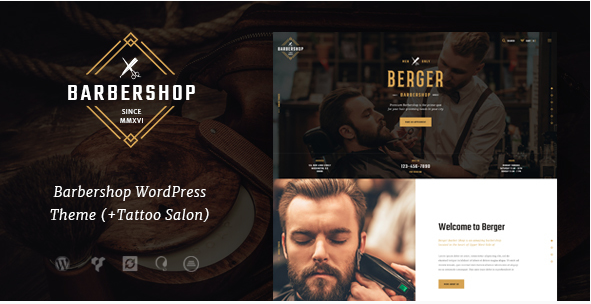 Berger  Barbershop & Tatoo WordPress Theme
