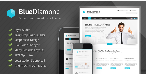 Blue Diamond - Best Jewellery WordPress Themes