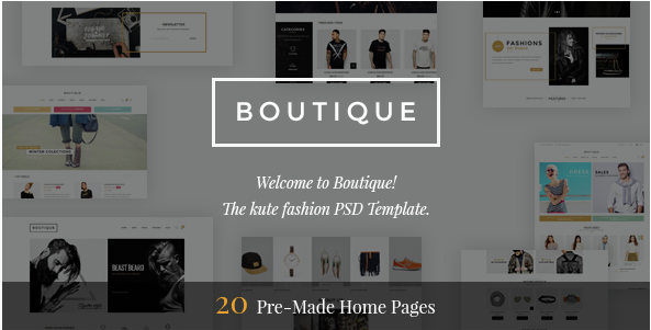 Boutique - Kute Fashion PSD Template