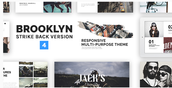 Brooklyn  Responsive Multi-Purpose WordPress Theme