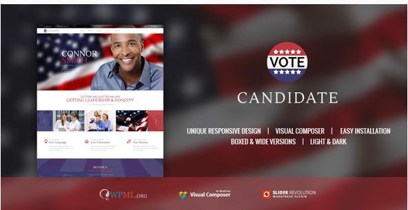 CANDIDATE  Political Campaign, WordPress Theme