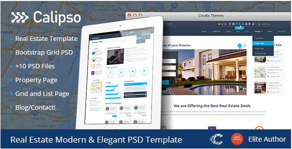 Calipso Real Estate Buy Rent Sell PSD
