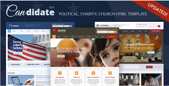 Candidate - Political Nonprofit Church HTML Theme