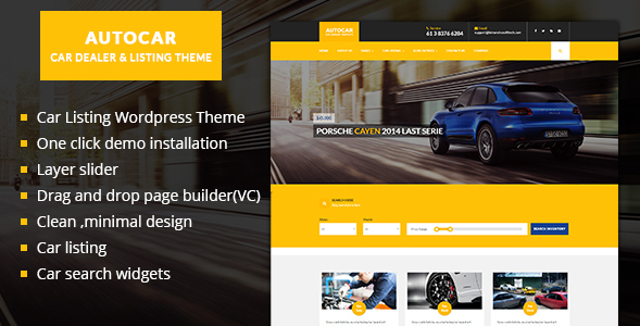 Car Dealer WordPress Theme - Auto Car