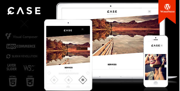 Case - Parallax One-page WordPress Theme