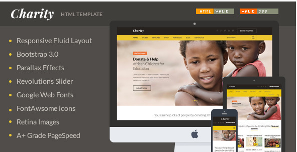 Charity - Nonprofit NGO Fundraising HTML Template