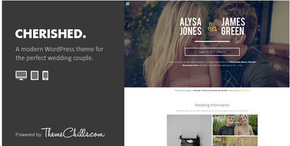 Cherished - Responsive Wedding WordPress Theme