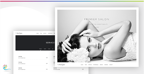 Coiffeur Salon - Classy and Elegant Retail Template (HTML)