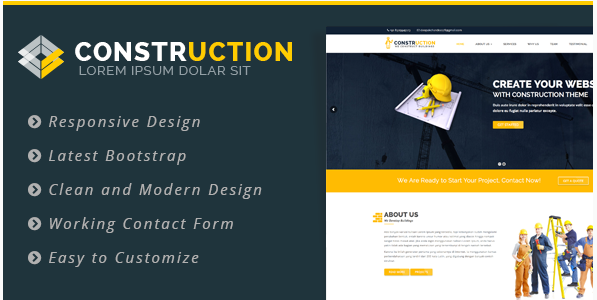 Construction – Construction, Renovation Business WordPress Theme