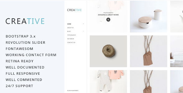 Creative - Photography HTML5 Template