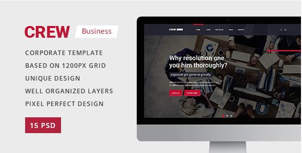 Crew — Business Corporate Portfolio & Blog PSD Template