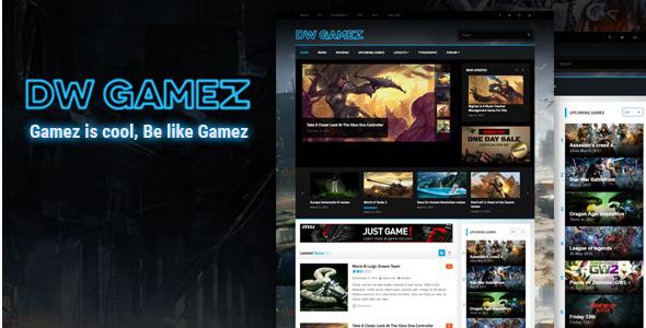 DW Gamez - Responsive WordPress Gaming Theme