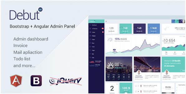 Debut UI Kit- AngularJS Admin Dashboard Template