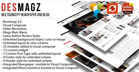 DesMagz - WordPress Multiconcept Magazine Theme Best Magazine WordPress Themes wpshopmart