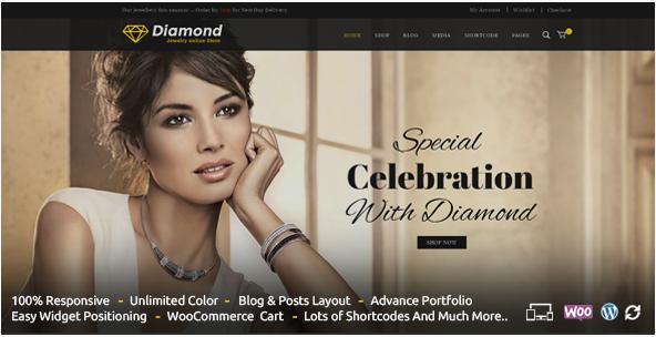 Diamond - Responsive WooCommerce Theme Best Jewellery WordPress Themes wpshopmart