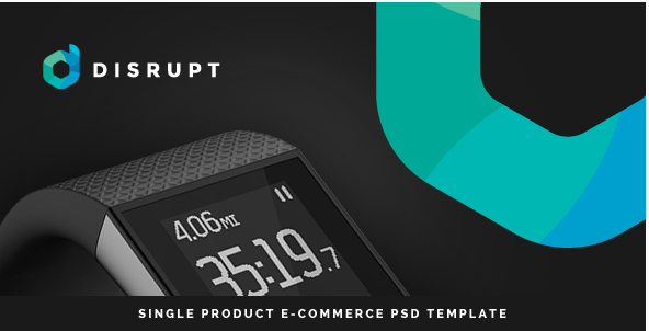 Disrupt - Single Product e-Commerce PSD Template