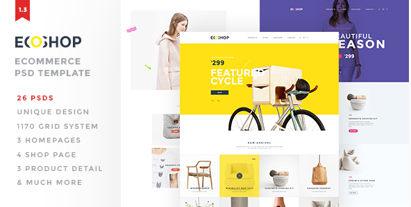 ECOSHOP - Multipurpose eCommerce PSD Template