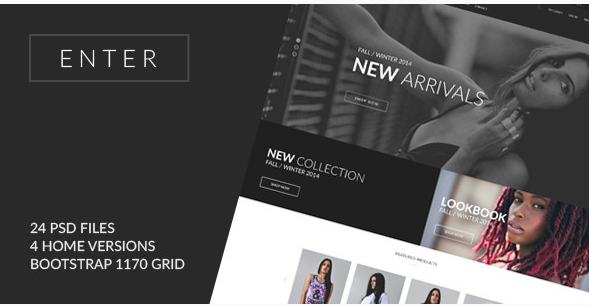 ENTER - eCommerce PSD Template