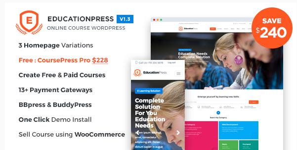 EducationPress - Online Courses - Classes WordPress Theme