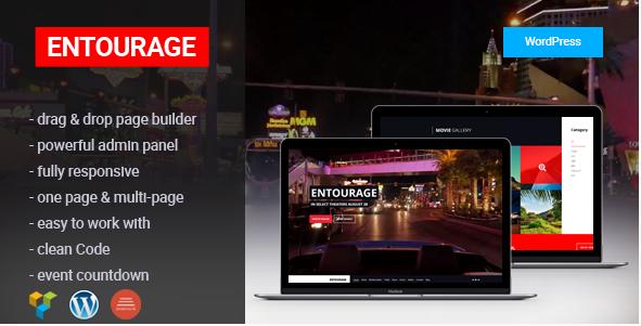 Entourage - Movie Film Cinema-TV WordPress Theme
