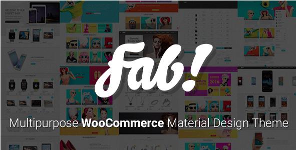 FAB! - Material Design WooCommerce WordPress Theme
